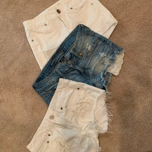 3 Pair of American Eagle Shorts - Size 0